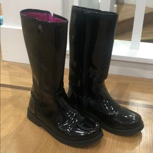 Tucker and Tate black patent riding boots